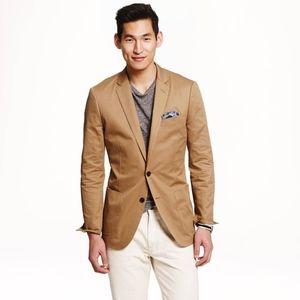 J. Crew Ludlow Blazer in Italian Cotton Khaki